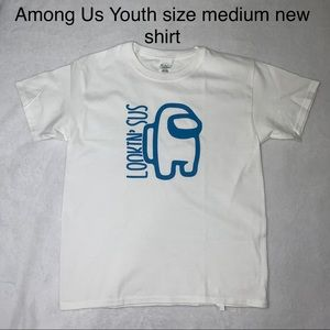 Youth size medium Among Us lookin Sus shirt new